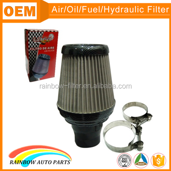 Modified car universal cold carbon racing air intake filter