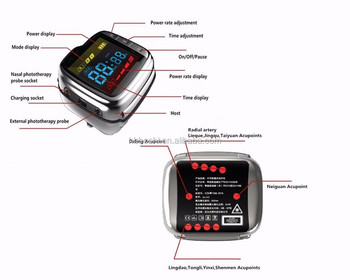 Low Level laser therapy wrist watch high blood pressure and diabetes treatment device