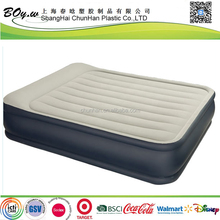 Gold supplier customised car camp travel big size flocked pvc high raised inflatable mobile cushion air bed