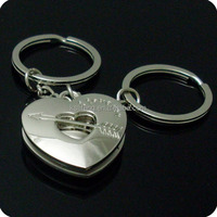 Fancy Heart Shape Foldable Bag Hanger Keychain Gift