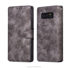 Retro book case flip classic leather wallet case for samsung galaxy note 8,cell phones smartphones luxury case for samsung note8
