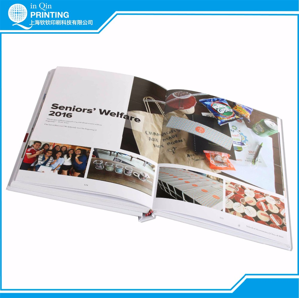 Hardback sewing binding custom cheap color photo book printing