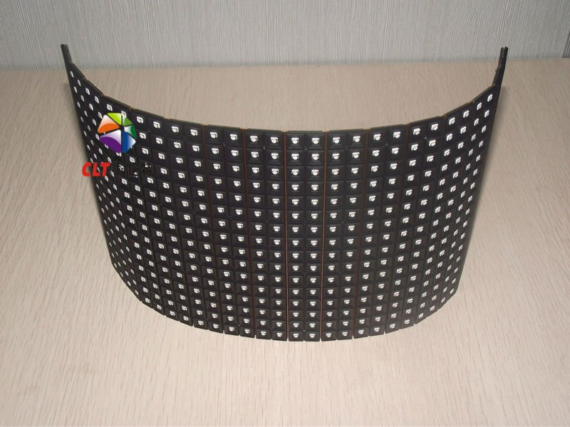 indoor soft led strip screen modules/curved led display neon light modules/led curtain screen p6/p8/p10