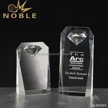 Noble Custom Wholesale Blank Diamond Crystal Awards Block For Souvenirs