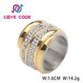 High quality fashion stainless steel different types stones rings