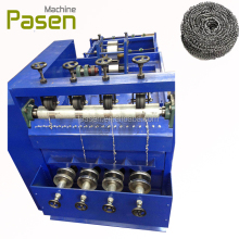 Automatic mesh clean ball machine / scourer ball making machine