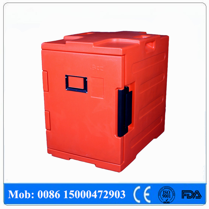 Storing hot food rotomold PE plastic insulated food cabinet