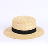 Wholesale Custom Design Decoration Summer Straw Boater Hat For Men Women