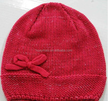 Winter Red Hat Crochet Pattern for Girls