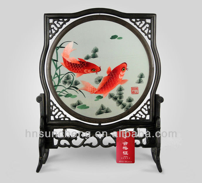 Goldfish-double-faced embroidery 100% Handmade Silk Xiang Embroidery