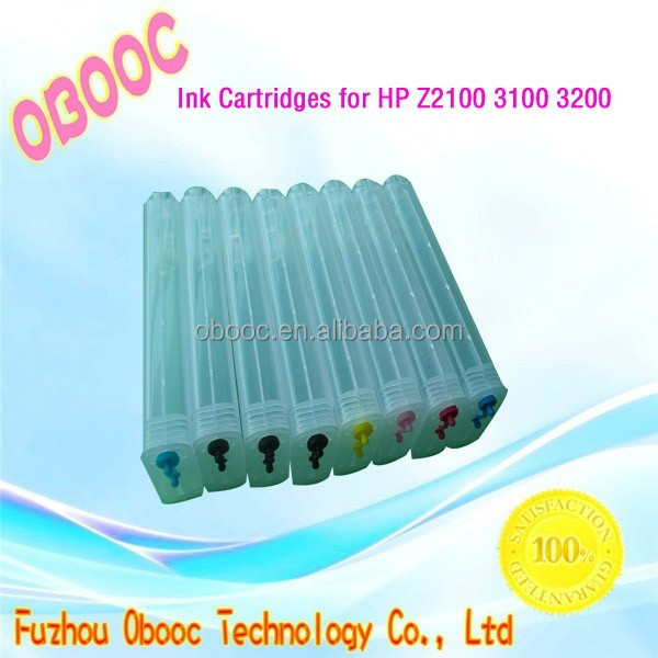 2015 Hot Sale! 280ml Ink Cartridge for HP Z2100 3100 3200