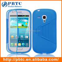 Case For Samsung Galaxy S3 Mini I8190 , Blue PC Silicone Cell Phone Case