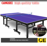 manufacture modern high quality table tennis single fold ping pong table with wheels
