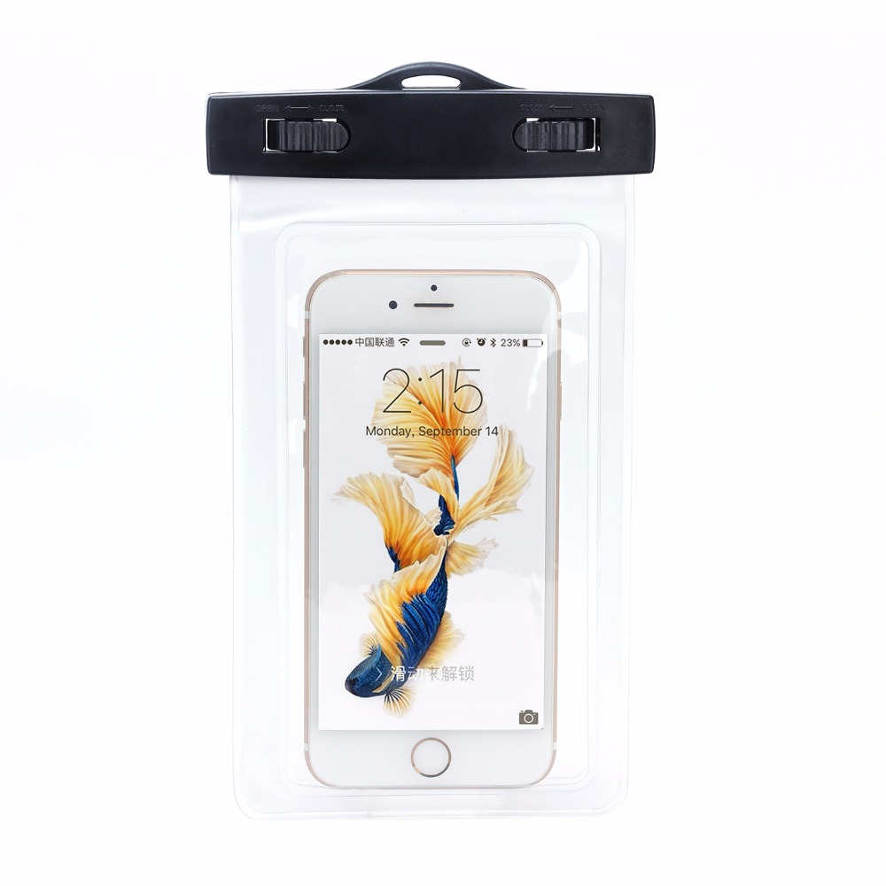 5.5inches pvc waterproof phone pouch for iphone 4 /4s/6s/7 swimming protected phone bag