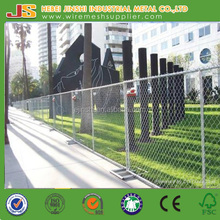 1.8mx2.4m American standard Galvanized chain link construction temporary fence for sales