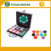 100pcs ABS Gameland Poker Chips Set With Aluminum Metal Case