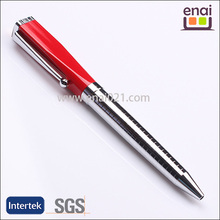 High Quality metallic stainless ball pen with square cap