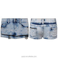China Wholesale Fashion Design Ladies Mini Denim Skirt Women Jeans With Chain