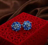 Hot sale Designs Crystal Ball stud Earrings For girls