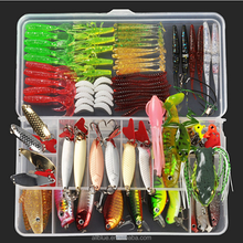 Fishing Lure Set 103pcs Crankbait Minnow Popper Soft Wobbler Lure For Bass Fishing Isca Pesca Artificial Bait
