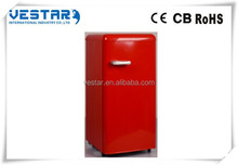 China supermarket refrigerator/bottom freezer Retro fridge
