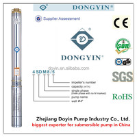 best submersible pumps brands to pump water : zhejiang doyin / dongyin ( doyin 4SD series)
