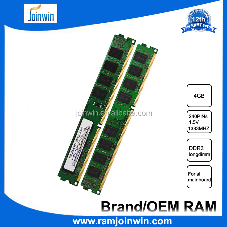lifetime warranty Long dimm 10600 1333mhz memory ram ddr3 4gb