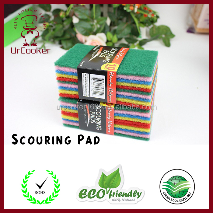 Kitchen Cleaning Sponge Scouring Pad in Packed for Home Cleaning