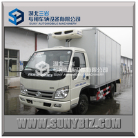 china 4X2 mini 6 wheelers 2000kg insulated reefer truck