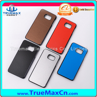 Carbon Fiber Cross Grain Plating PC Protected Mobile Phone Case For Samsung Galaxy S6 edge+