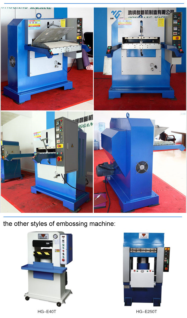 120ton Hydraulic plane heat embossing press machine for leather