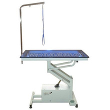Electric dog grooming table with built-in light