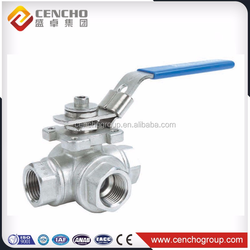 Hot sale 3 way sanitary stainless steel ball valve from professional manufacturer