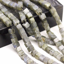 Hot Selling Labradorite Cube Gemstone Beads