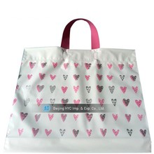 Pure color custom printed small shopping plastic bag