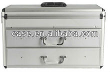 Hot selling aluminum tool case with two drawers