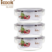 Borosilicate Glass Lunch Box Oven Safe Bento Box Family Using Fruit Vegetable Box