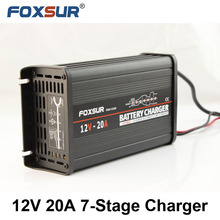 Free Shipping wholesale original 12V 20A 7-stage smart Lead Acid Battery Charger,12V Car battery charger, MCU controlled