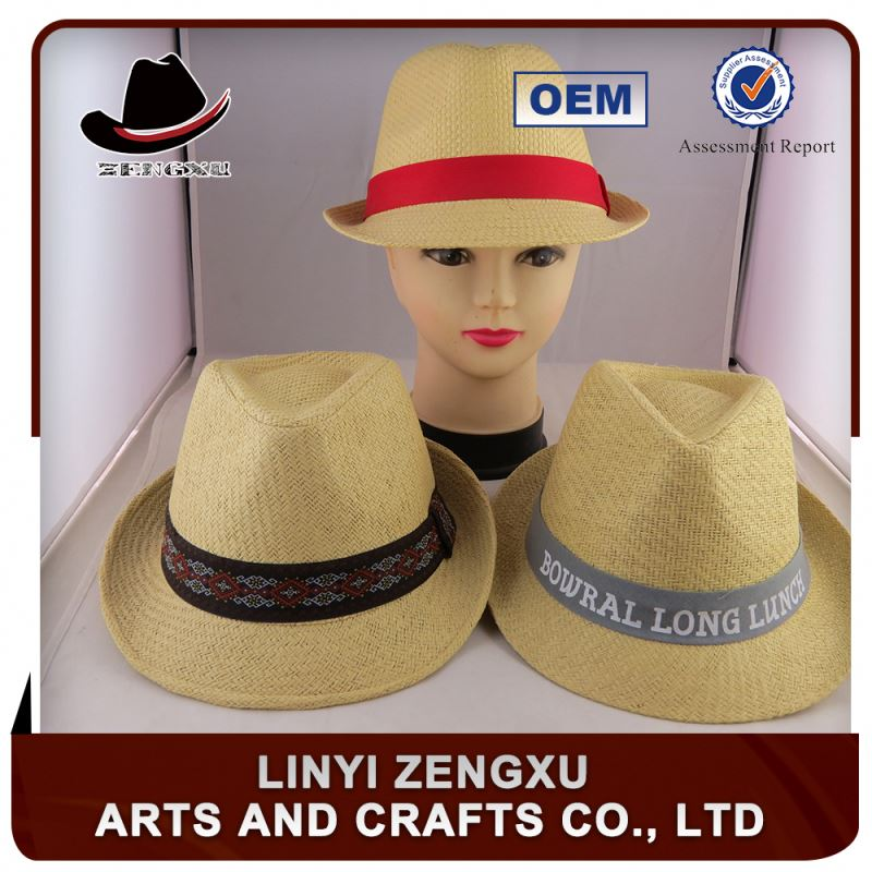 Factory offer cheap custom fancy straw man hat