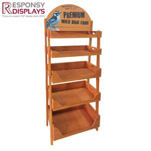 Customized Floor Snack Cabinet Wood Food Display Stand