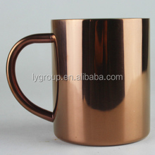 Customized logo 10oz moscow printing copper travel coffee mug/beer mugs in home