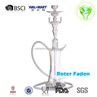 al fakher shisha hookah skull glass hookah with pu leather case wholesale