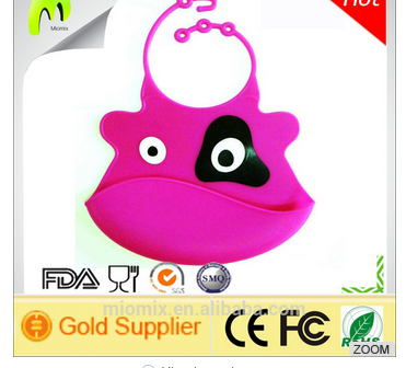 Top quality soft waterproof silicone bib cock for baby