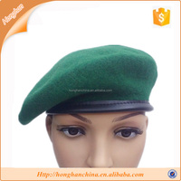 Military Wool Monty Beret Deep Green Hat