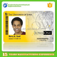 Custom printed plastic student id card with serial number for school