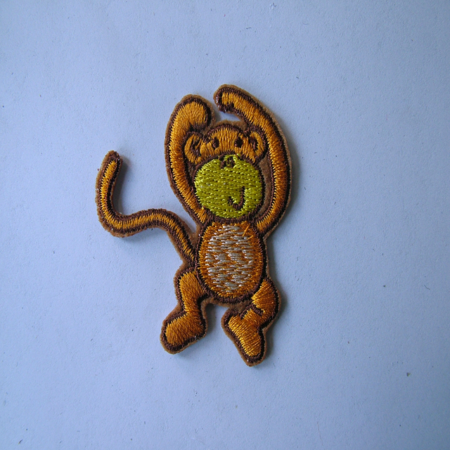 the newest design high quality <strong>monkey</strong> <strong>embroidery</strong> patch for clothes