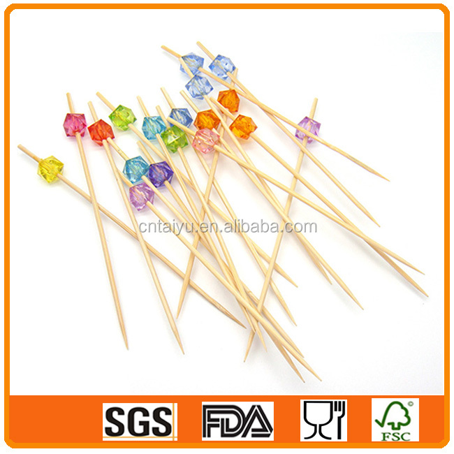 Disposable Fruit Bamboo Sticks for Kids