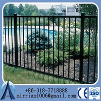 HeBei Anping Factory pvc powder coating steel palisade garden fence/fencing prices for sale