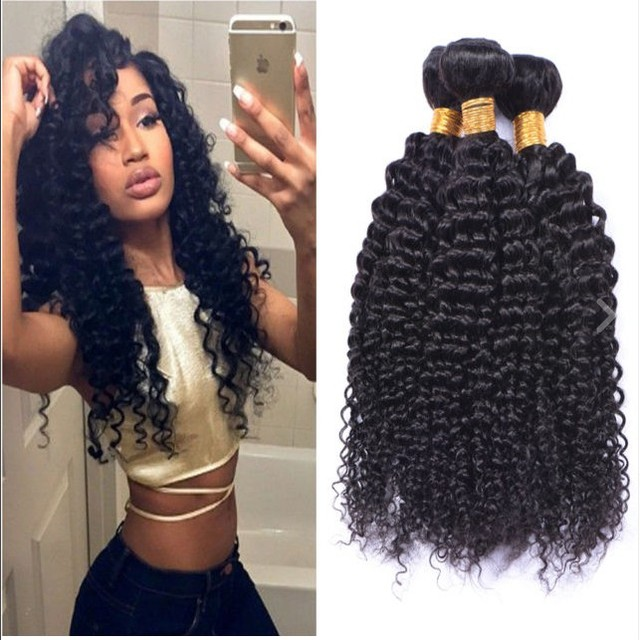 3Bundles/300g Free Shipping Grade 8a Virgin Peruvian Hair Weave Deep Wave Curly Factory Wholesale Price For Peruvian Human Hair