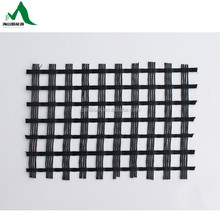 Hot sale 80-80KN/m biaxial geogrid asphalt coated for road pavement reinforcement from Taian China Factory
